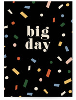 This is a black congratulations card by Amy Kross called Big Day with standard printing on signature in greeting cards.