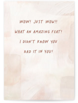 This is a brown congratulations card by Hooray Creative called Amazing Feat with standard printing on signature in greeting cards.