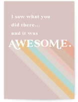 This is a colorful congratulations card by Lori Wemple called I saw what you did there with standard printing on signature in greeting cards.