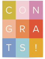 This is a colorful congratulations card by Ellen Schlegelmilch called colorful congrats! with standard printing on signature in greeting cards.