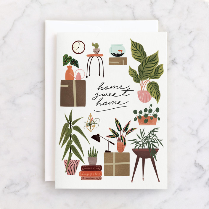 """""""Plant Lovers"""" - Individual Congrats Greeting Cards in Leaf by Grae."""