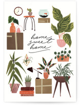 This is a green congratulations card by Grae called Plant Lovers with standard printing on signature in greeting cards.