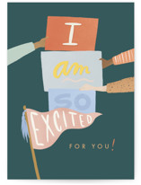 This is a green congratulations card by Julie Murray called I Saw the Sign with standard printing on signature in greeting cards.