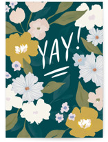 This is a green congratulations card by Julie Murray called Yay for you with standard printing on signature in greeting cards.
