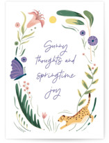 This is a purple greeting card by Morgan Ramberg called In the Grass with standard printing on signature in greeting cards.