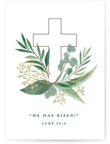 This is a green greeting card by Jessie Steury called Heaven & Earth with standard printing on signature in greeting cards.