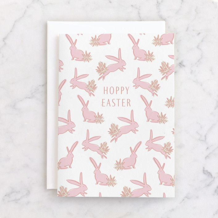 """""""Some Bunny"""" - Individual Seasonal Greeting Cards in Peony by Julie Murray."""