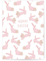This is a pink greeting card by Julie Murray called Some Bunny with standard printing on signature in greeting cards.