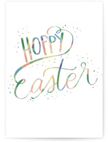 This is a green greeting card by Ashlee Townsend called Hoppy Easter with standard printing on signature in greeting cards.