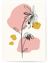 This is a beige greeting card by Kanika Mathur called Mod Floral 2 with standard printing on signature in greeting cards.