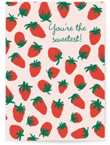 This is a red greeting card by Alex Roda called Laia with standard printing on signature in greeting cards.