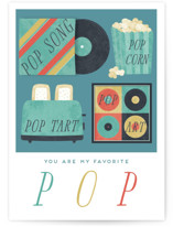 This is a green greeting card by Gwen Bedat called Pop star with standard printing on signature in greeting cards.