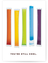 This is a colorful greeting card by Katie Zimpel called You're Still Cool with standard printing on signature in greeting cards.