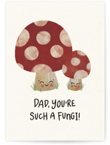 This is a red fathers day card by Noonday Design called Dad, You're Such a Fungi with standard printing on signature in greeting cards.