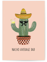 This is a green greeting card by Chelsea And Marbles Paper called NACHO DAD with standard printing on signature in greeting cards.