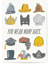 This is a beige greeting card by Tanya Lee of Frooted Design called the dad hat with standard printing on signature in greeting cards.