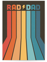 This is a brown greeting card by Tennie and Co. called rad+dad with standard printing on signature in greeting cards.