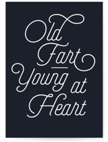 This is a blue greeting card by J. Dario Design Co. called Young Heart with standard printing on signature in greeting cards.