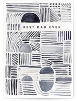 This is a blue fathers day card by Lucrecia called Watercolor lines with standard printing on signature in greeting cards.