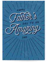 This is a blue fathers day card by Ashley Rosenbaum called First Father's Day with standard printing on signature in greeting cards.
