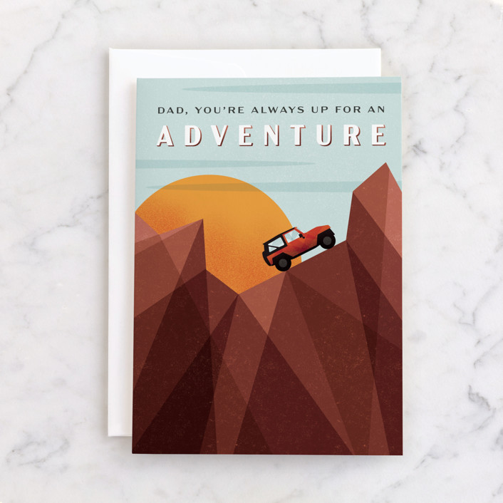 """""""Adventure"""" - Individual Father's Day Greeting Cards in Tawny by Erin German."""