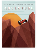 This is a orange fathers day card by Erin German called Adventure with standard printing on signature in greeting cards.