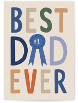 This is a beige fathers day card by Alethea and Ruth called Best Dad Ever Award with standard printing on signature in greeting cards.