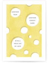 This is a yellow fathers day card by Robert and Stella called Cheesy Card with standard printing on signature in greeting cards.