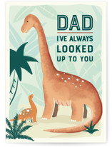 This is a brown fathers day card by Rachael Pietsch called I've Always Looked Up to You with standard printing on signature in greeting cards.