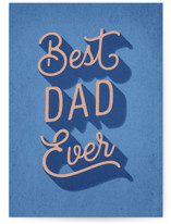 This is a blue fathers day card by Hooray Creative called Best Type of Dad with standard printing on signature in greeting cards.