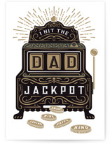 This is a black fathers day card by Paper Sun Studio called Jackpot Father's Day with standard printing on signature in greeting cards.