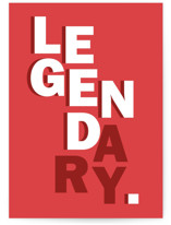 This is a red fathers day card by Emily Kariniemi called Legendary with standard printing on signature in greeting cards.