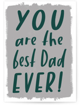 This is a grey fathers day card by AK Graphics called Best Dad Ever with standard printing on signature in greeting cards.