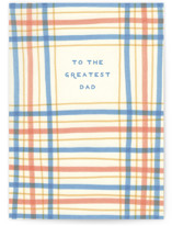 This is a yellow fathers day card by Katharine Watson called Vintage Sketched Plaid with standard printing on signature in greeting cards.