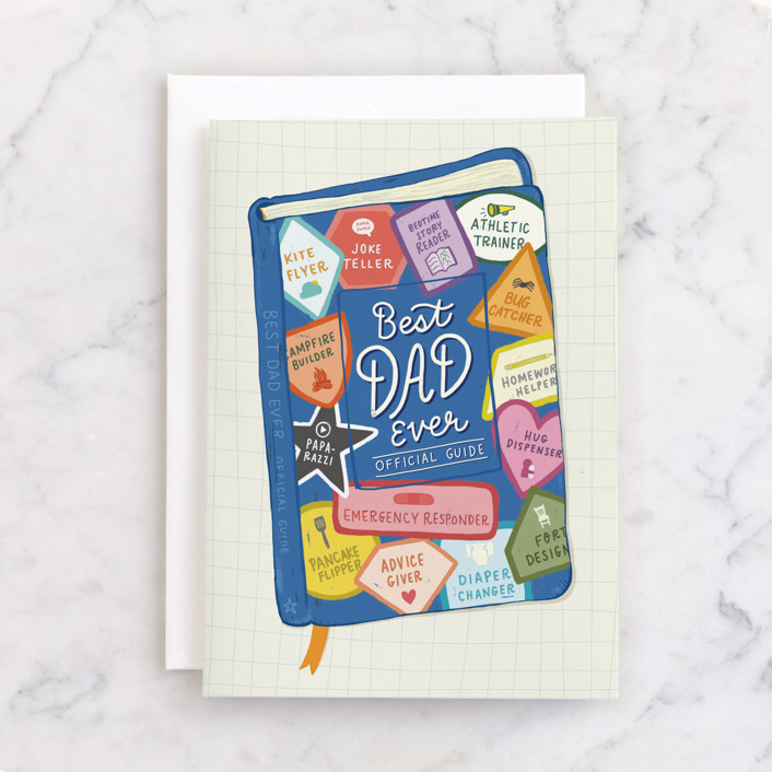 """""""Official Dad Guide"""" - Individual Father's Day Greeting Cards in Colorful by Rachel K. Swanson."""