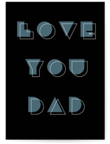 This is a black fathers day card by Sumak Studio called Geometric with standard printing on signature in greeting cards.