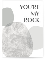 This is a grey fathers day card by Erin German called Rock with standard printing on signature in greeting cards.