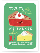 This is a green fathers day card by Erica Krystek called So Many Fillings with standard printing on signature in greeting cards.