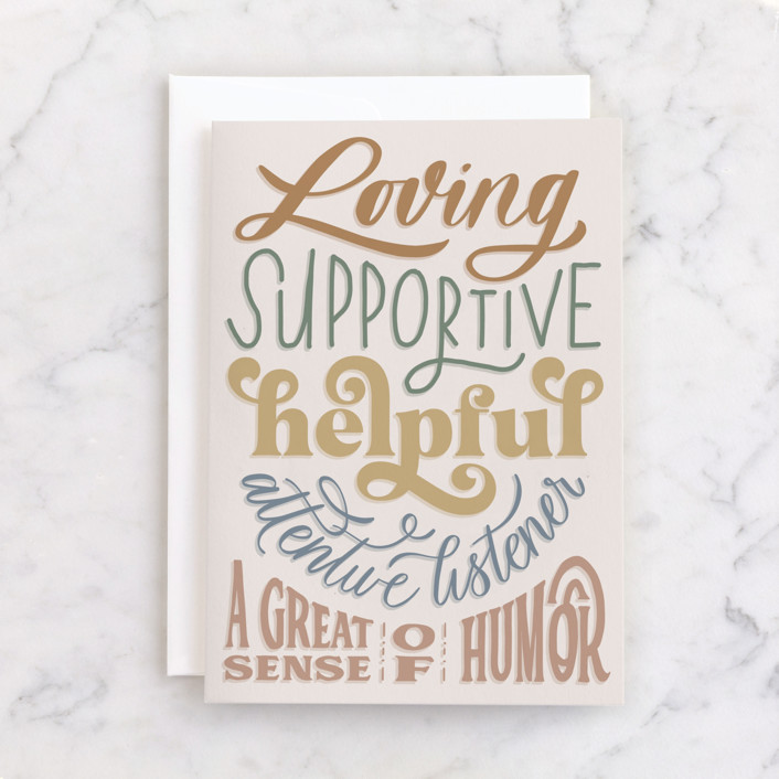 """""""Enough About Me"""" - Individual Father's Day Greeting Cards in Cream by Carolyn Kach."""