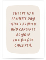 This is a beige fathers day card by Erica Krystek called Sans Kids with standard printing on signature in greeting cards.