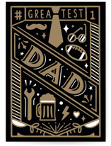 This is a black fathers day card by Cindy Chu called The greatest dad with standard printing on signature in greeting cards.
