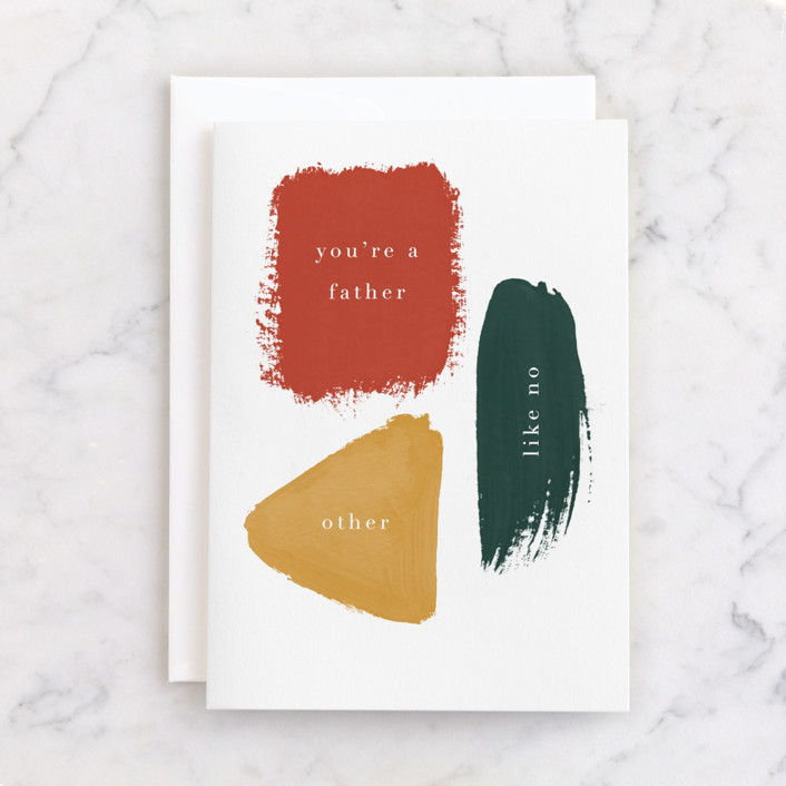 """""""No Other."""" - Individual Father's Day Greeting Cards in Tangerine by Nazia Hyder."""