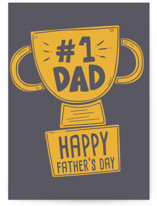 This is a grey fathers day card by Vera Lim called Dad Cup with standard printing on signature in greeting cards.