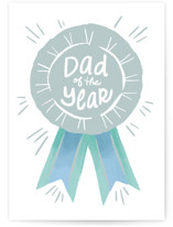 This is a white fathers day card by Jennifer A. Smith called Parent of the Year with standard printing on signature in greeting cards.
