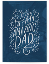 This is a blue fathers day card by Alethea and Ruth called To an Amazing Dad with standard printing on signature in greeting cards.