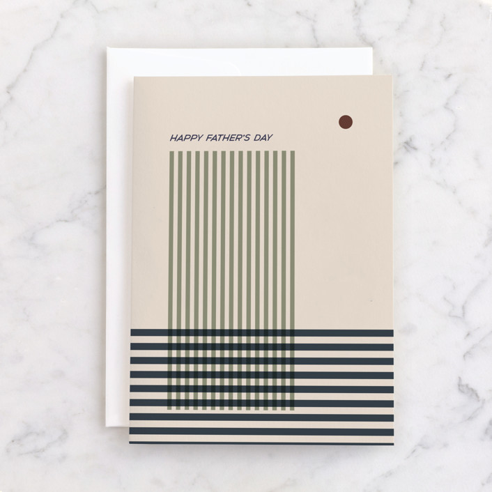 """""""Crossing stripes"""" - Individual Father's Day Greeting Cards in Blush by Alex Roda."""