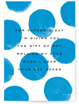 This is a blue fathers day card by Kristie Kern called Dad Joke with standard printing on signature in greeting cards.