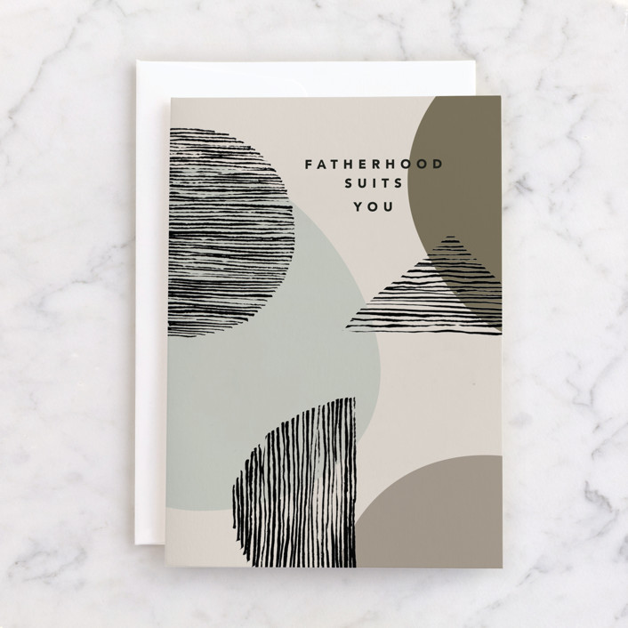 """""""Modern Whimsy"""" - Individual Father's Day Greeting Cards in Stone by Creo Study."""