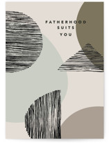This is a beige fathers day card by Creo Study called Modern Whimsy with standard printing on signature in greeting cards.
