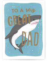 This is a blue fathers day card by Everett Paper Goods called Jawsome Dad with standard printing on signature in greeting cards.